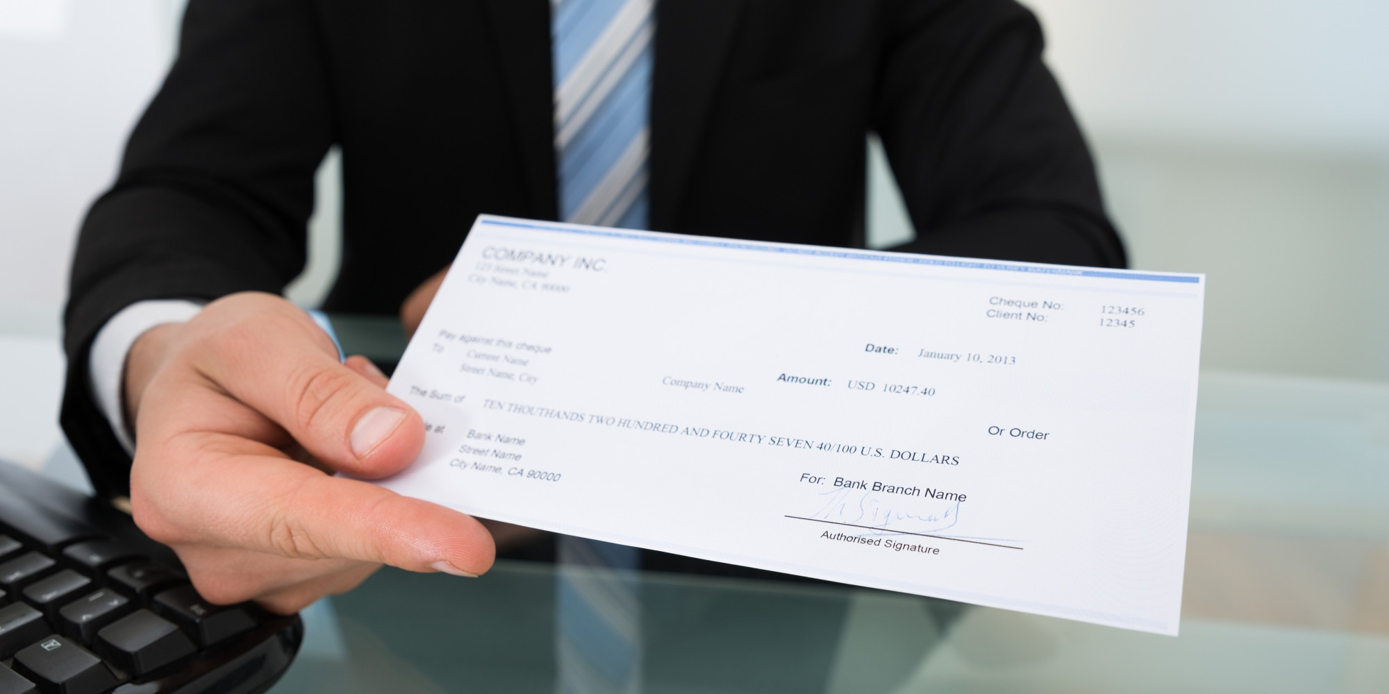 Personalized Pay checks